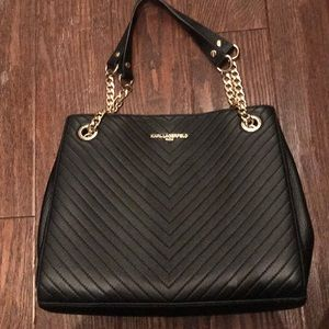 Never worn black medium size Lagerfeld bag